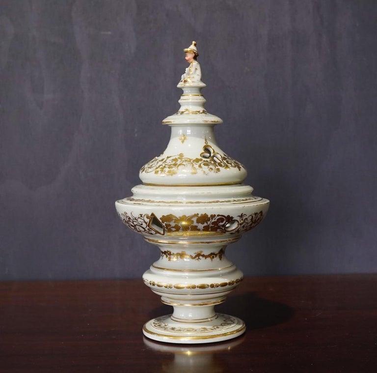 French Potpourri Vase, Celadon Ground, circa 1870 For Sale 6