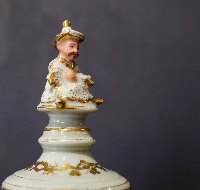 French Potpourri Vase, Celadon Ground, circa 1870 For Sale 2