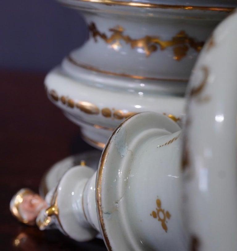 French Potpourri Vase, Celadon Ground, circa 1870 For Sale 3