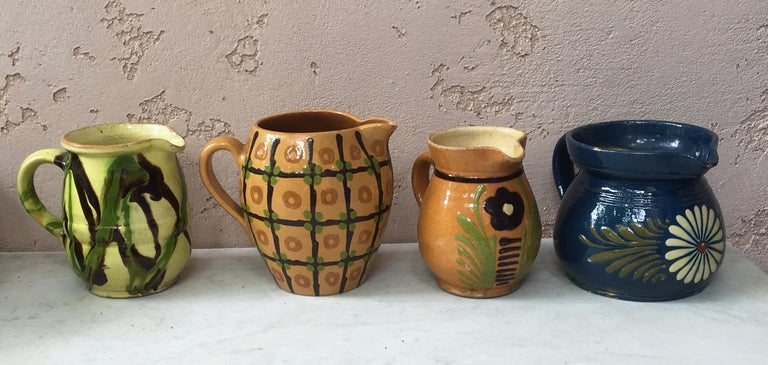 French Pottery Flower Pitcher For Sale 2