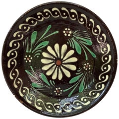 French Pottery Savoie Floral Platter