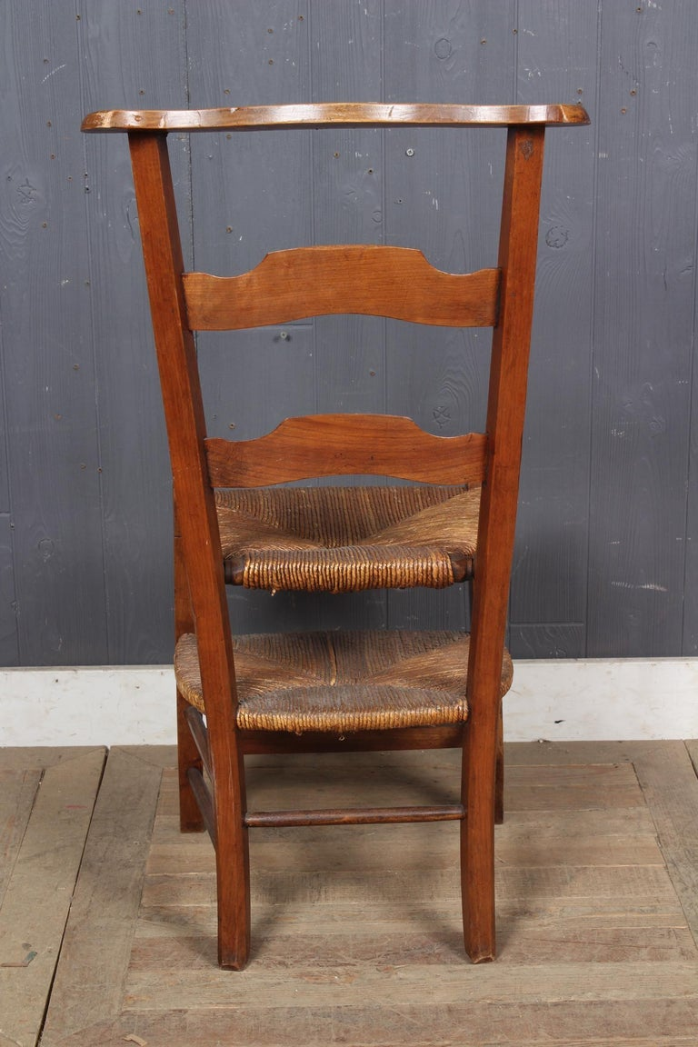 Fruitwood French Prie Dieu Metamorphic Chair, 19th Century For Sale
