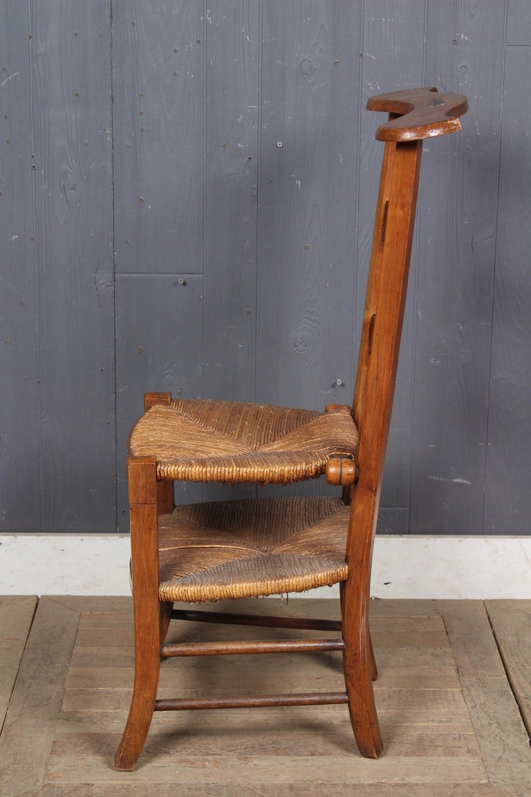 French Prie Dieu Metamorphic Chair, 19th Century For Sale 1