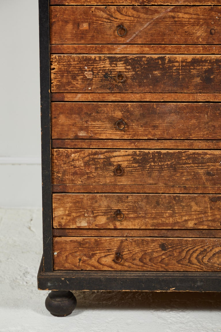Mid-20th Century French Primitive Chest of Drawers For Sale