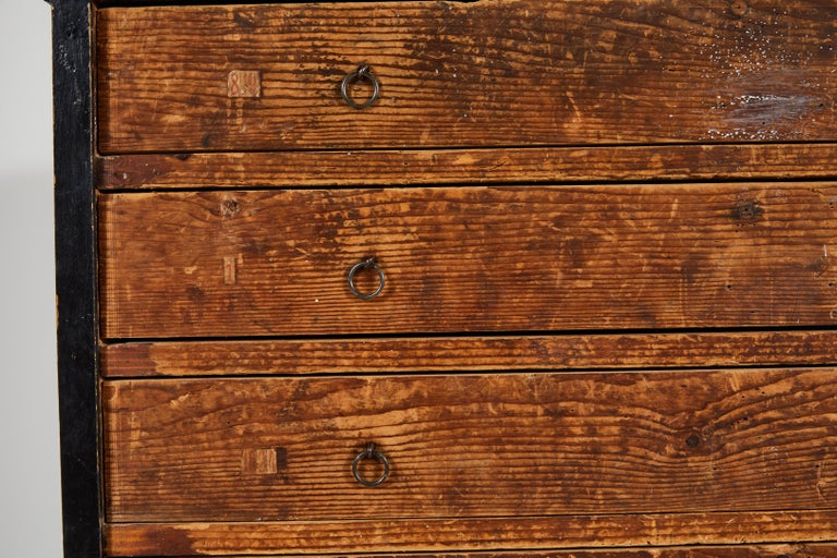 Wood French Primitive Chest of Drawers For Sale