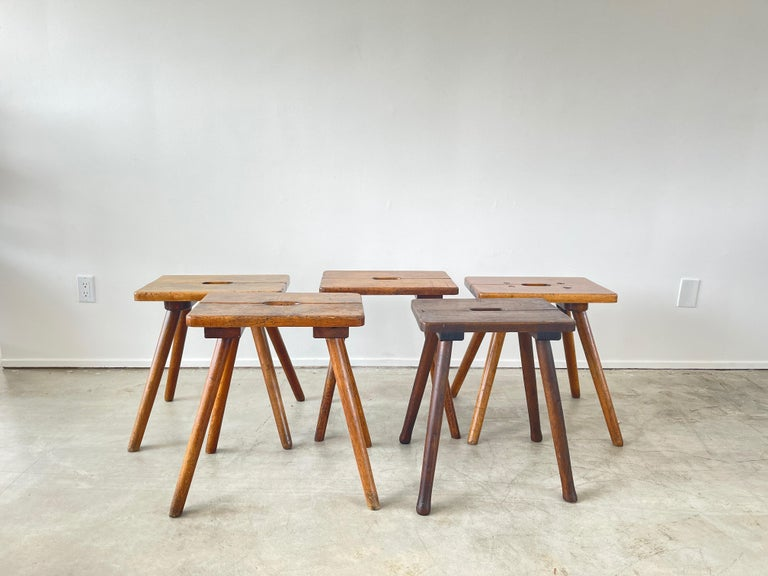 French Primitive Stools In Good Condition For Sale In Los Angeles, CA