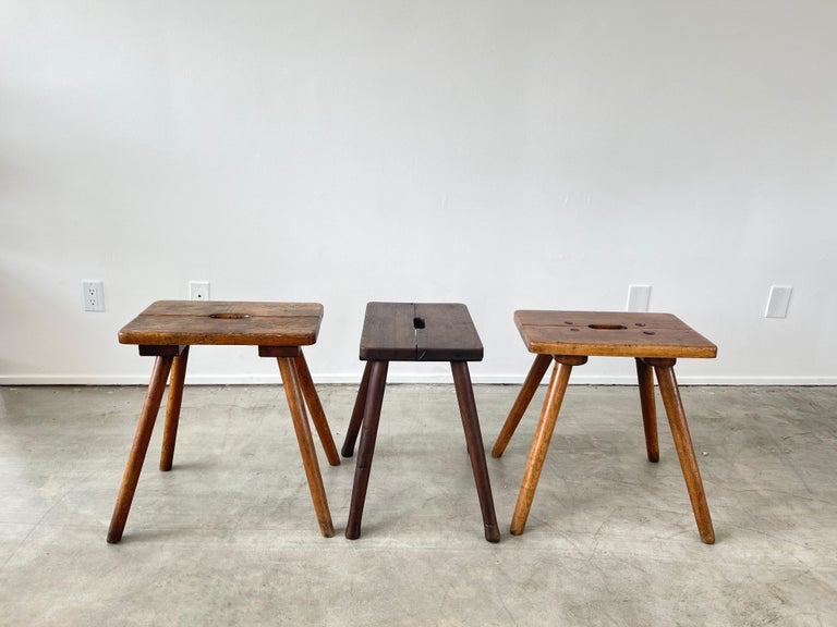Mid-20th Century French Primitive Stools For Sale