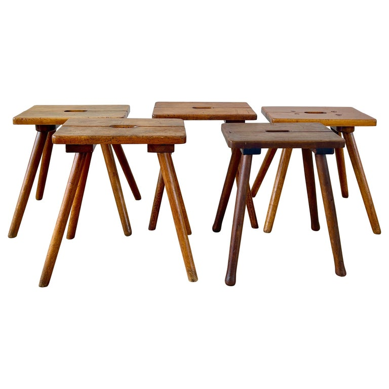 French Primitive Stools For Sale