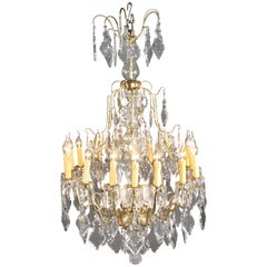 French, Prisms Chandelier in the Louis-Quinze Baroque Style