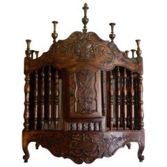 French Provençal Louis XV Style Walnut Panetière or Bread Safe, 19th Century