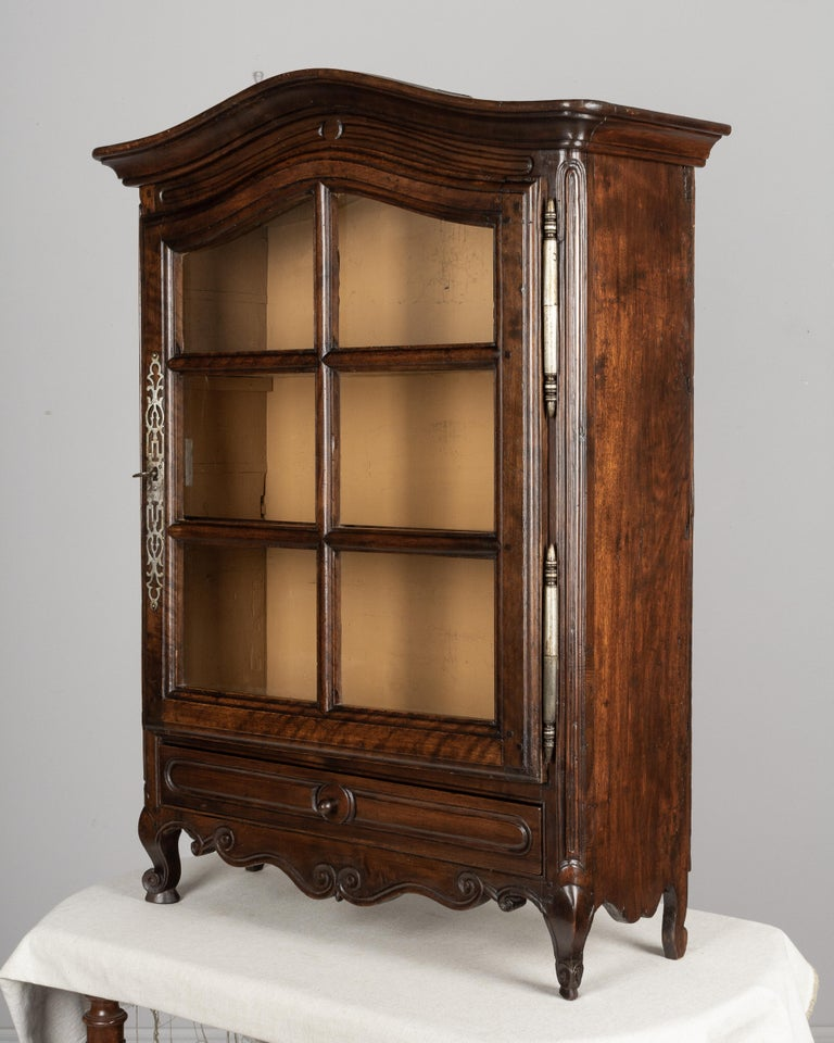 Louis XV French Provençal Vitrine or Display Cabinet For Sale
