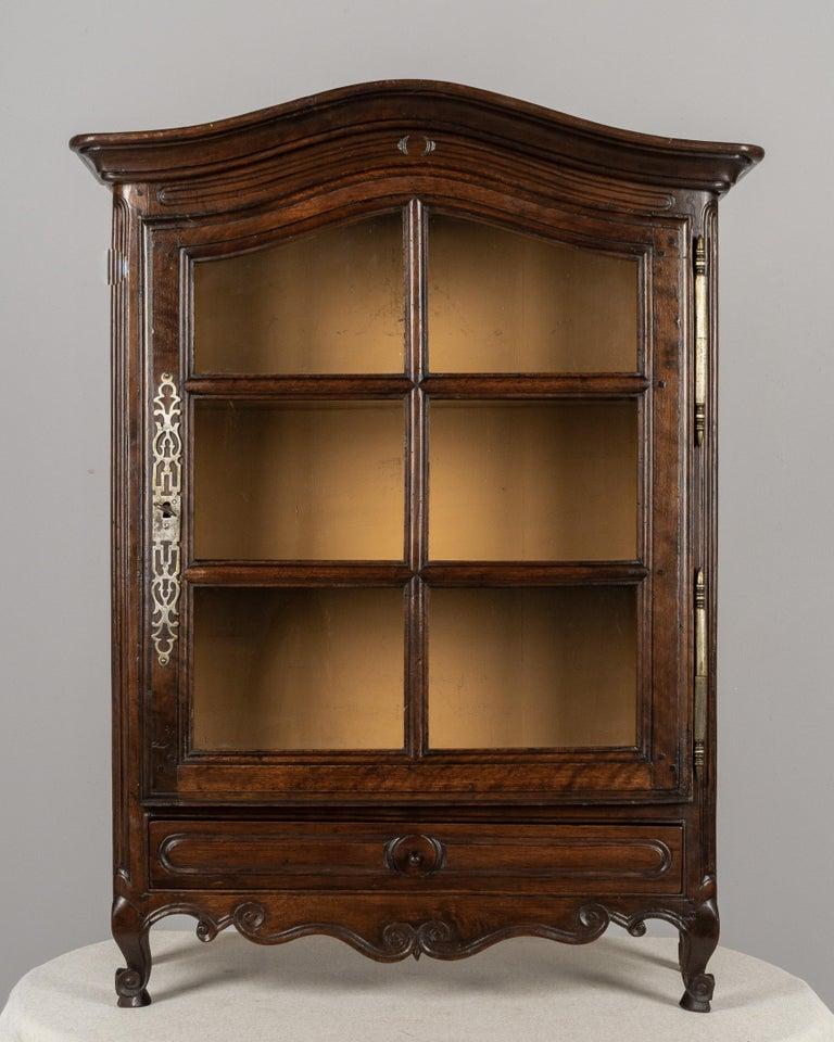 Hand-Carved French Provençal Vitrine or Display Cabinet For Sale