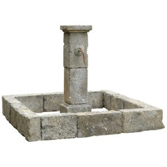 French Provence Style Fountain Handcrafted in Pure Limestone