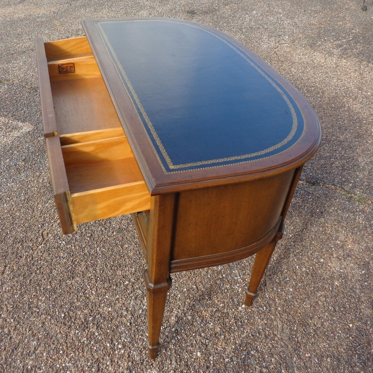 Walnut French Provencial Writing Desk by Sligh Furniture For Sale