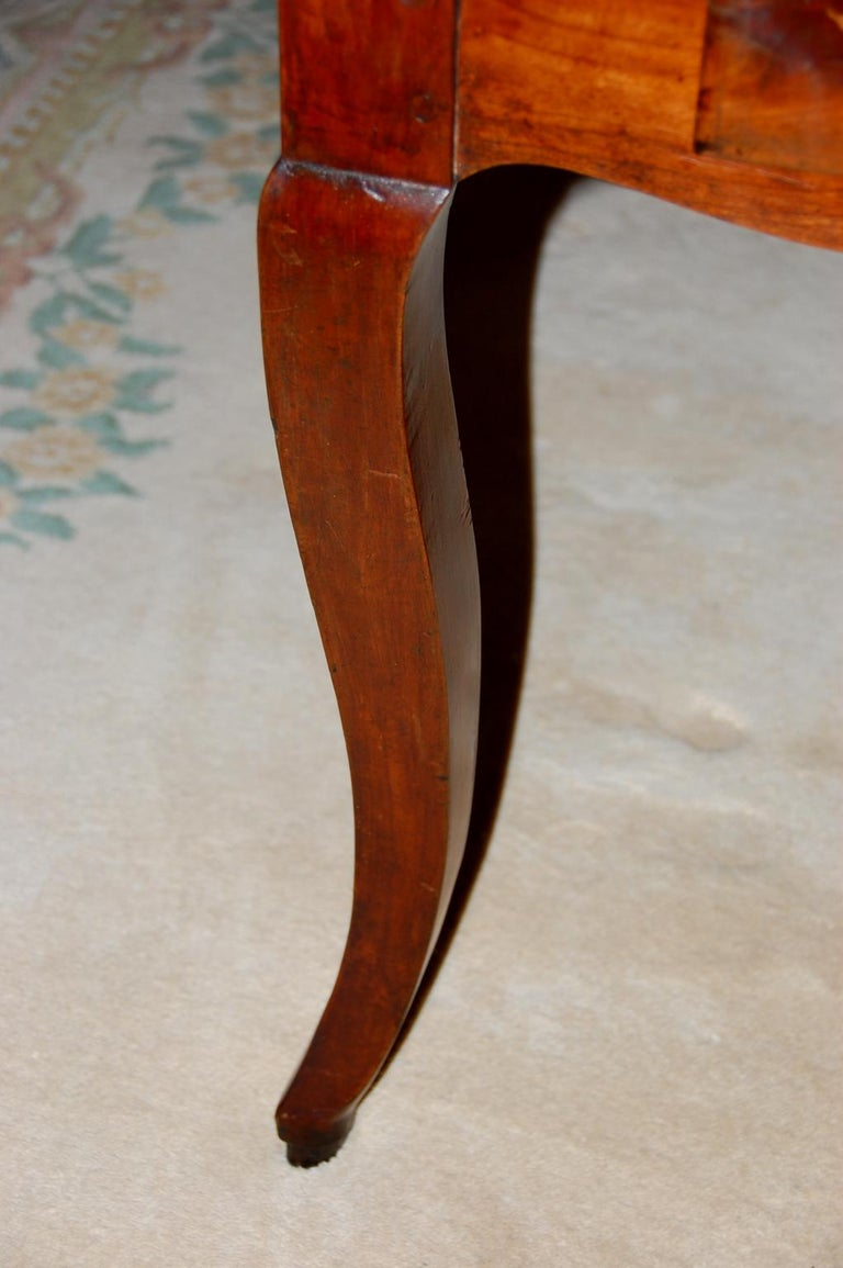 French Provincial 19th Century Small Farmhouse Cherry Dining Table For Sale 4