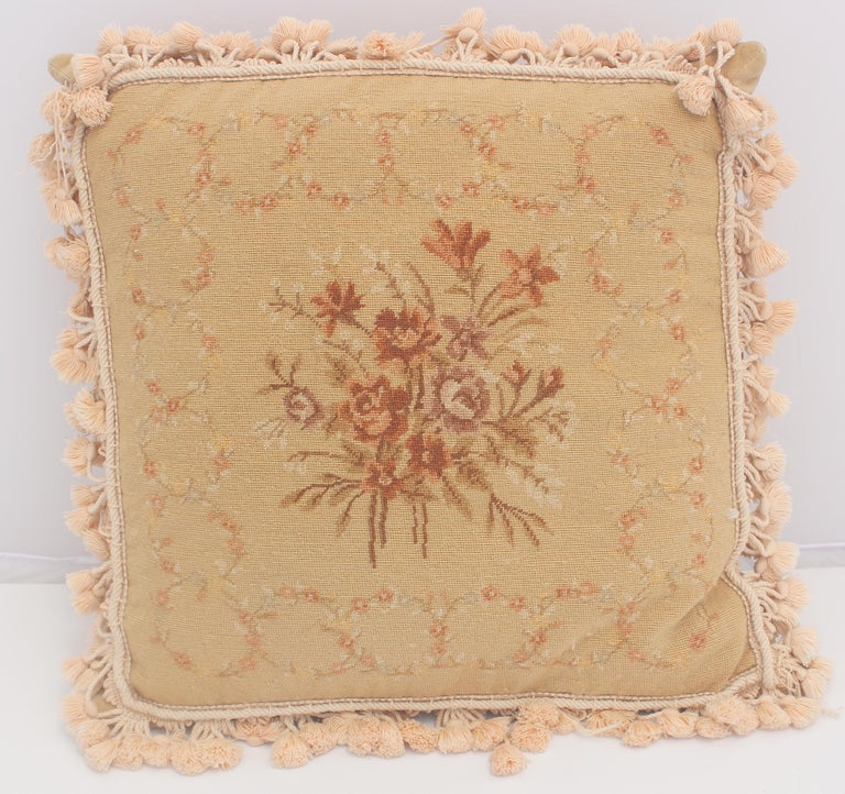 French Provincial Aubusson Style Throw Pillow For Sale 4
