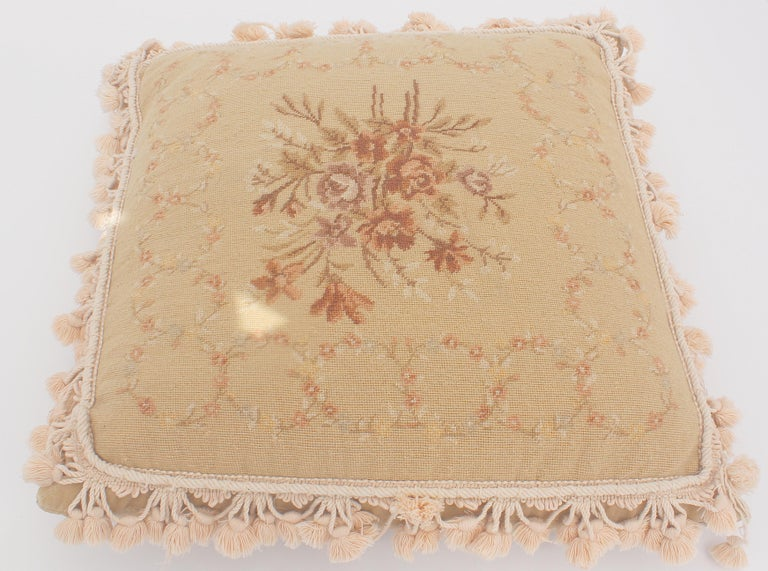 French Provincial Aubusson Style Throw Pillow For Sale 8