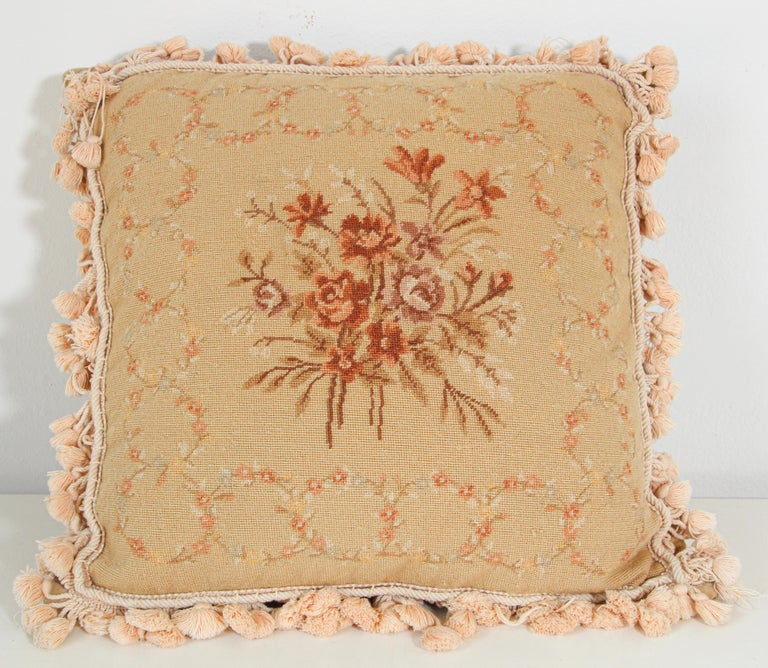 French Provincial Aubusson Style Throw Pillow For Sale 11