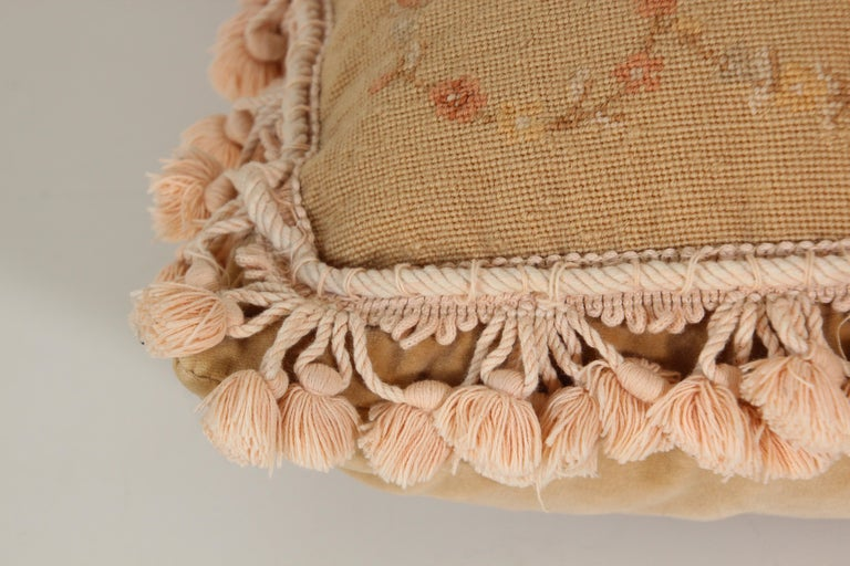French Provincial Aubusson Style Throw Pillow For Sale 14