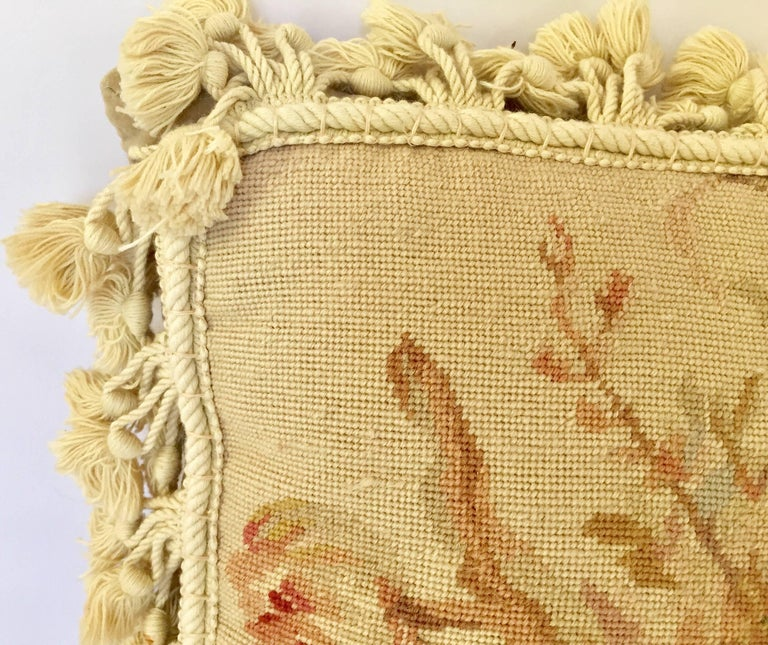 20th Century French Provincial Aubusson Style Throw Pillow