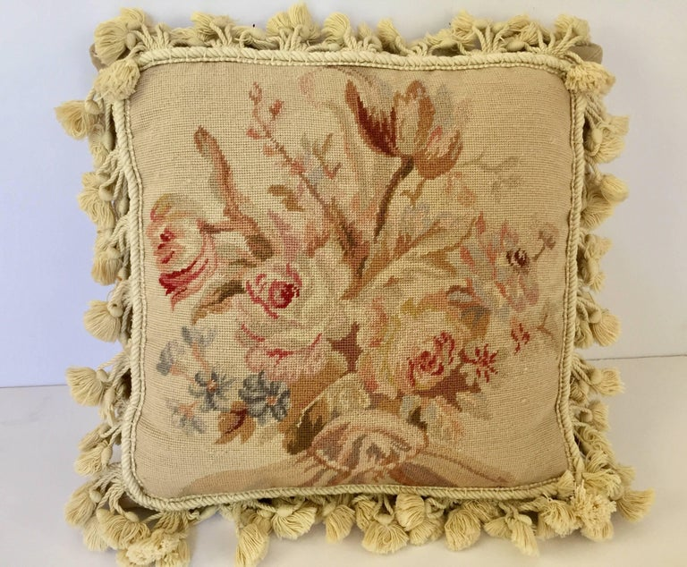 Cotton French Provincial Aubusson Style Throw Pillow