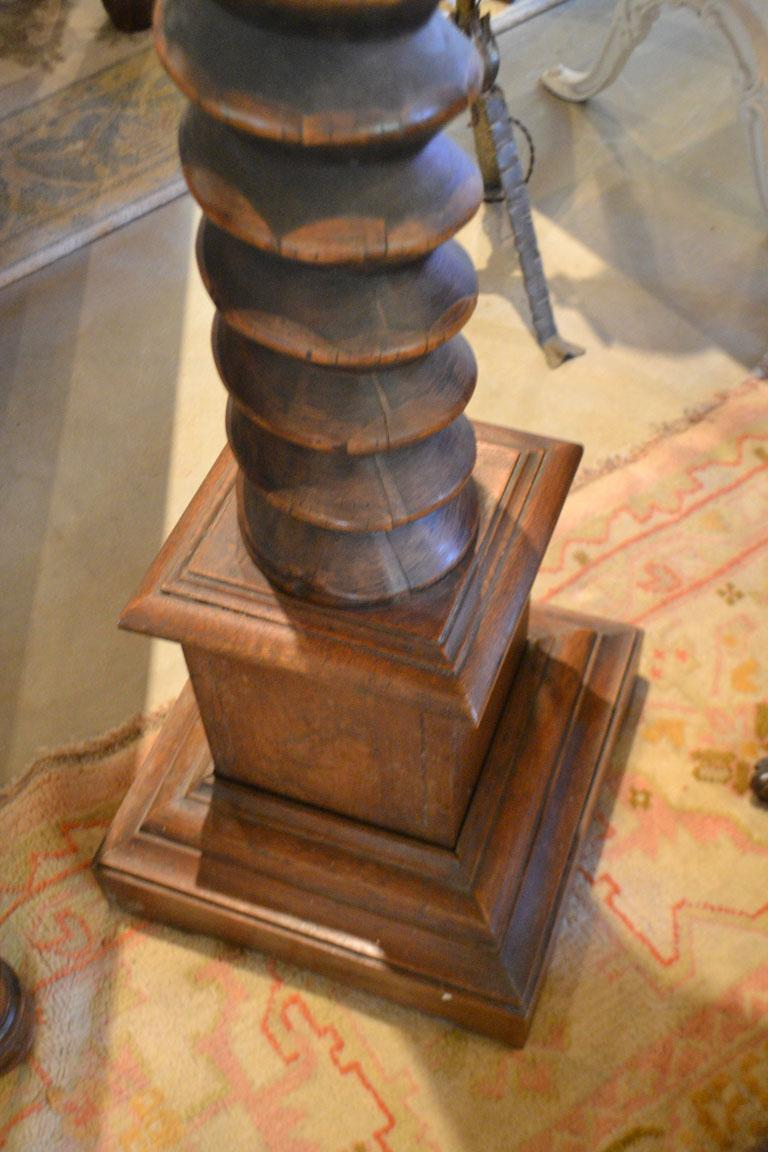 French Provincial Carved Cherry Wine Press Screw For Sale 1
