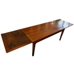 French Provincial Cherry Farmhouse Extending Table