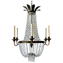 French Provincial Crystal Beaded Chandelier