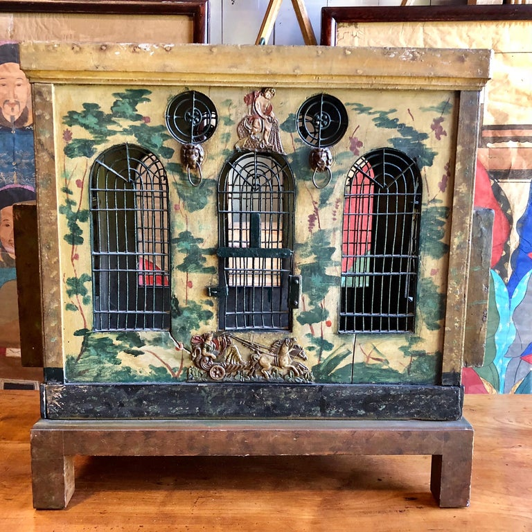 Hand-Painted French Provincial Empire Style Birdcage For Sale