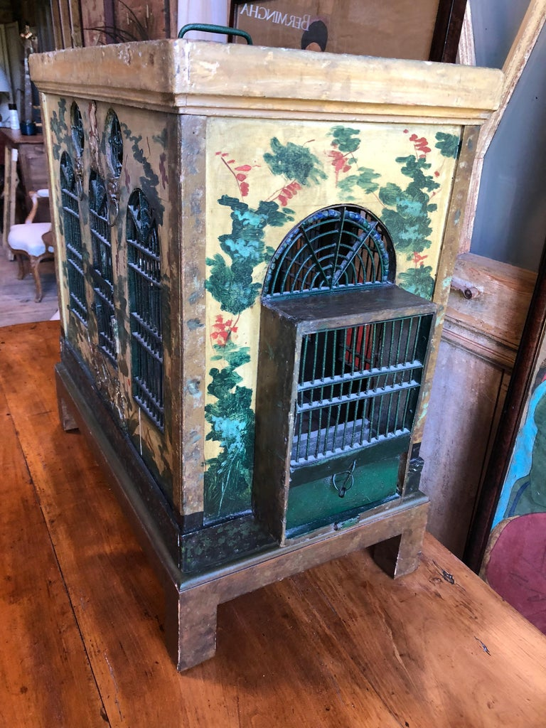 French Provincial Empire Style Birdcage In Good Condition For Sale In Doylestown, PA