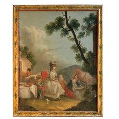 French Provincial Farm Scene, Marie Antoinette, 18th C.