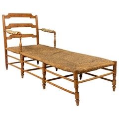French Provincial Fruitwood Chaise