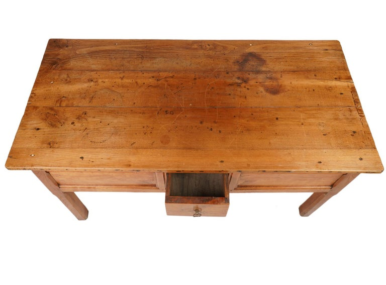 French Provincial Fruitwood Three-Drawer Work Table, circa 1830 In Good Condition For Sale In Ft. Lauderdale, FL