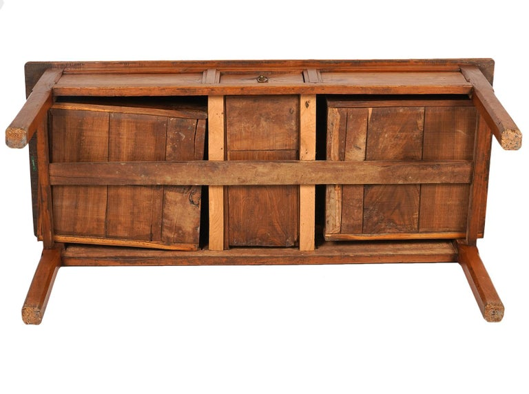 French Provincial Fruitwood Three-Drawer Work Table, circa 1830 For Sale 3