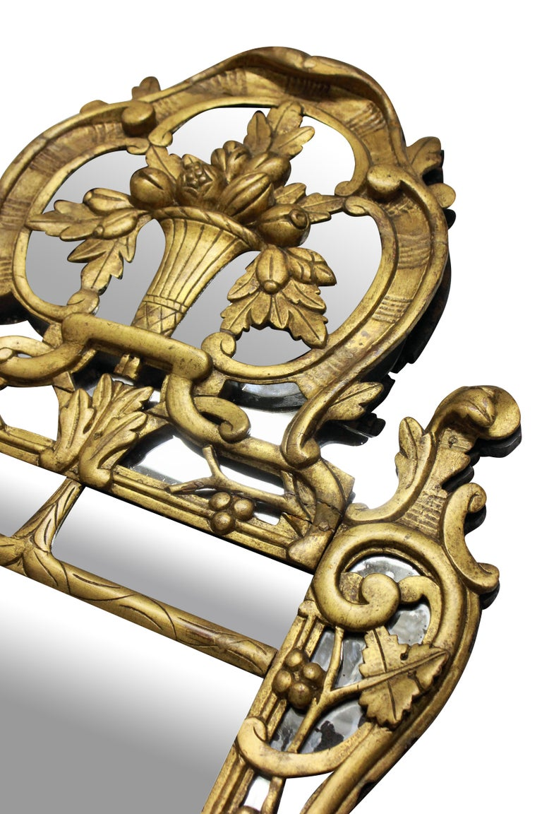 French Provincial Giltwood Mirror With The Original