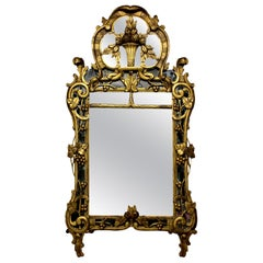 French Provincial Giltwood Mirror with the Original Looking Glass