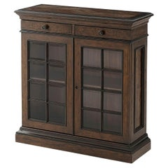French Provincial Glass Door Cabinet, Small