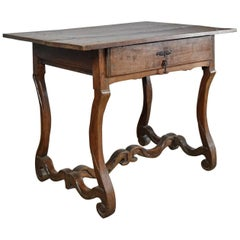 French Provincial Louis XIV Period Os de Mouton Oak Side Table