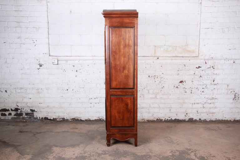 French Provincial Louis XV Oak Armoire Dresser by Hickory For Sale 6