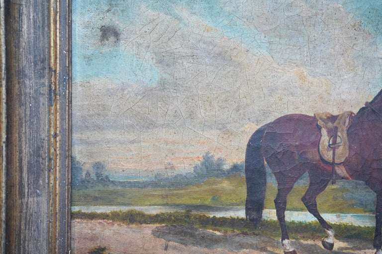 French Provincial Naïve School Oil on Canvas of a Rural Scene, 1880, M. Gilbert For Sale 7