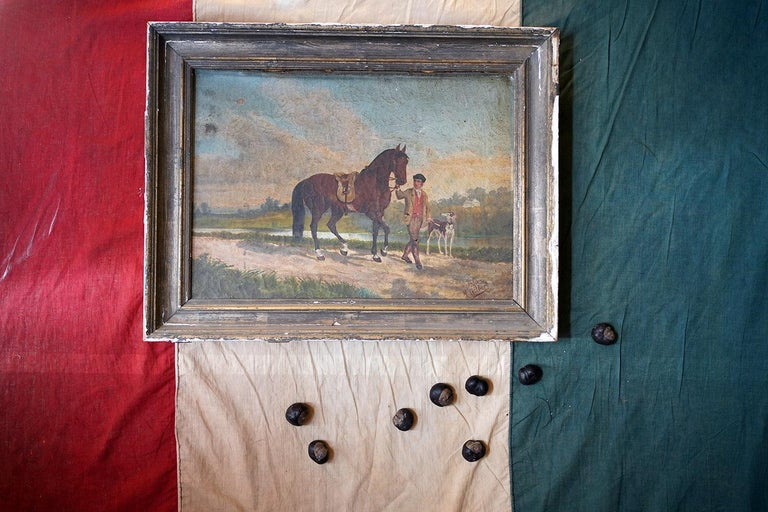 French Provincial Naïve School Oil on Canvas of a Rural Scene, 1880, M. Gilbert For Sale 14