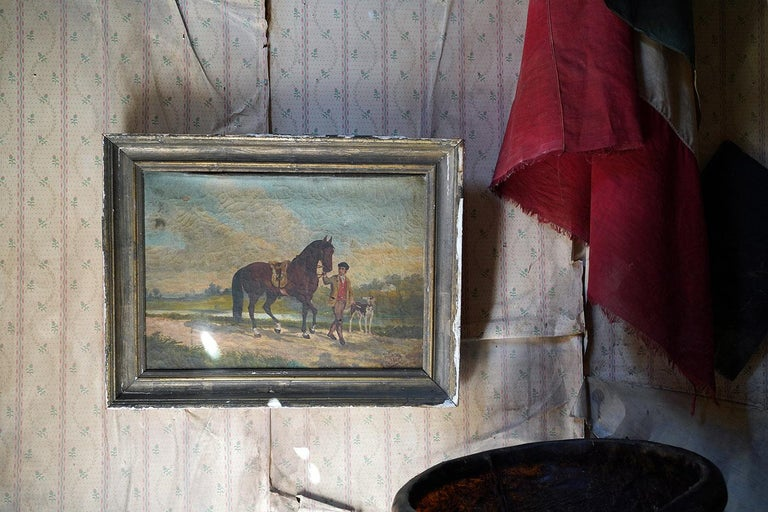 French Provincial Naïve School Oil on Canvas of a Rural Scene, 1880, M. Gilbert For Sale 15