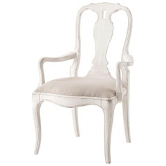 French Provincial Painted Armchair