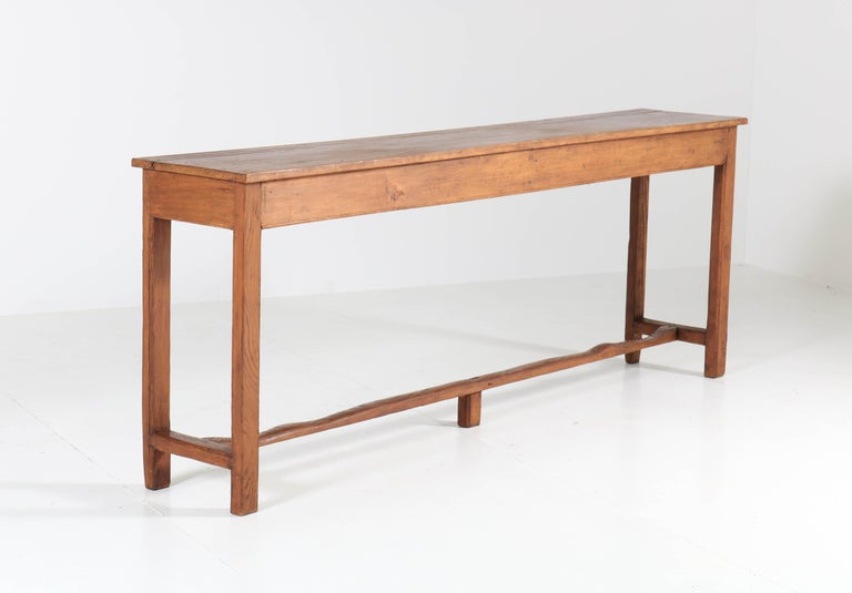 French Provincial Pine Side-Table or Work Table, 1890s For Sale 2