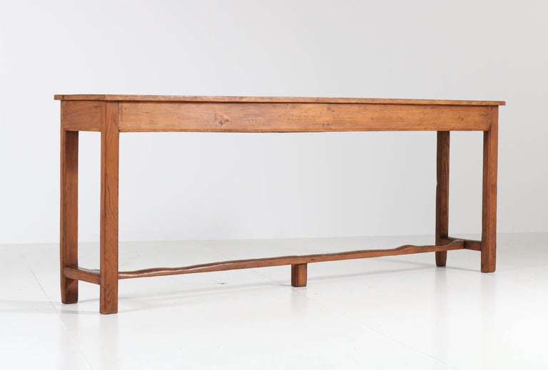 French Provincial Pine Side-Table or Work Table, 1890s For Sale 3