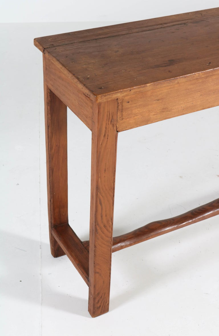 French Provincial Pine Side-Table or Work Table, 1890s For Sale 4