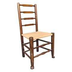 French Provincial Rush Seat Ladder Back Dining Chair