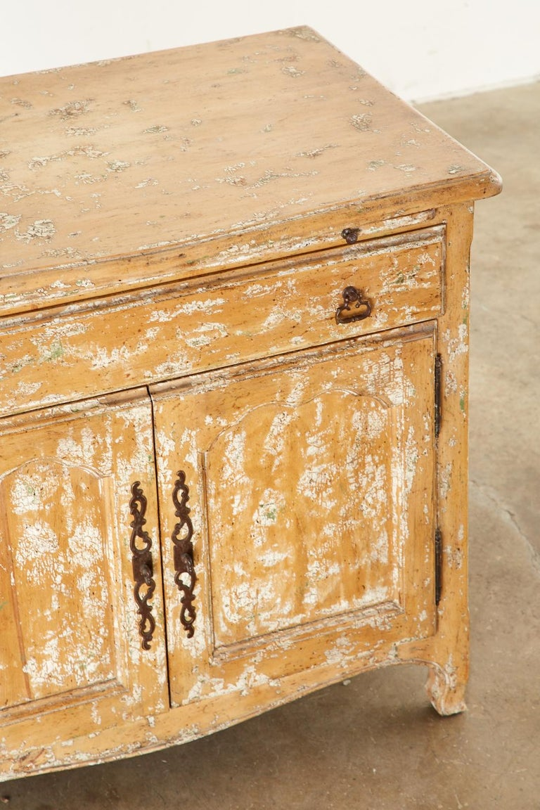 French Provincial Style Nightstand Cabinet with Pull Out Tray For Sale 3