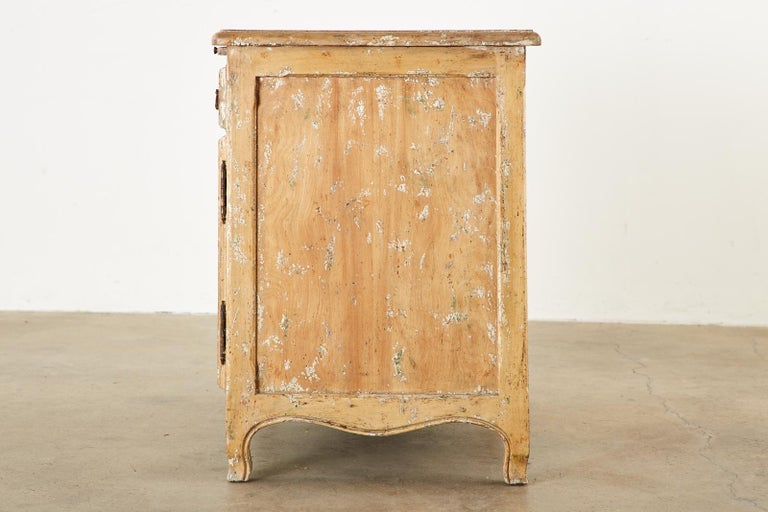 Brass French Provincial Style Nightstand Cabinet with Pull Out Tray For Sale