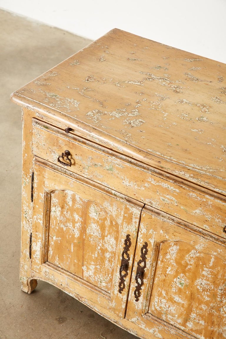 French Provincial Style Nightstand Cabinet with Pull Out Tray For Sale 2